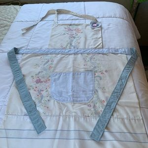 Handmade vintage pillowcase apron.